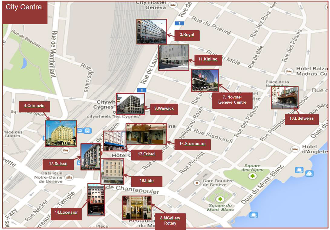 Hotels in the city center